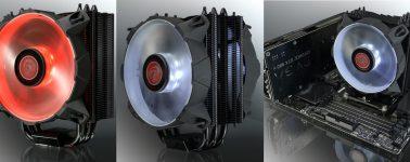 Raijintek Leto: Disipador CPU negro mate con ventilador en varios colores