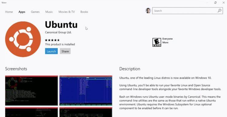 Ubuntu en la Windows Store 740x381 0