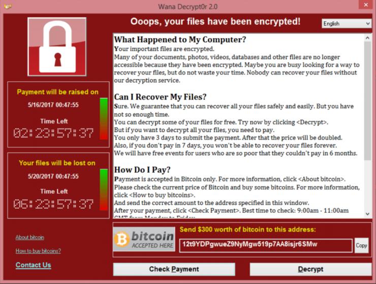 WannaCry ransomware 740x559 0