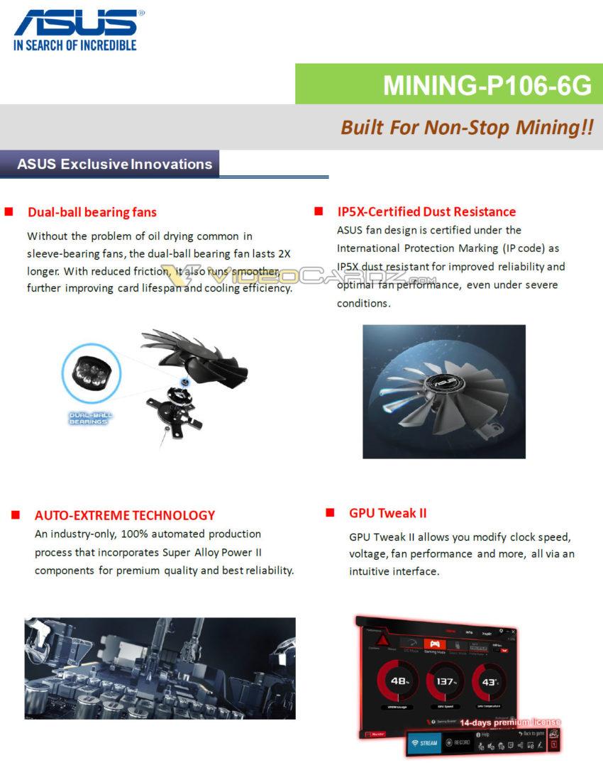 Asus GP106 100 MINING 2 1