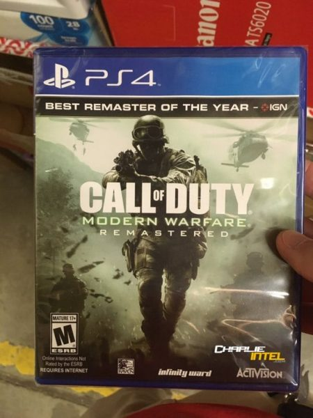 Call of Duty Modern Warfare Remastered PlayStation 4 450x600 0