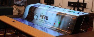 LG desarrolla una pantalla de 77″ OLED 4K transparente y flexible