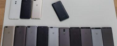 El OnePlus 5 se deja ver con todo lujo de detalle junto a todos los prototipos desechados