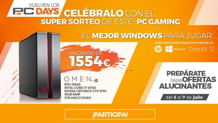 c7b5a6ac8 Vuelven los PcDays a PcComponentes, primeras ofertas y sorteo de PC ...