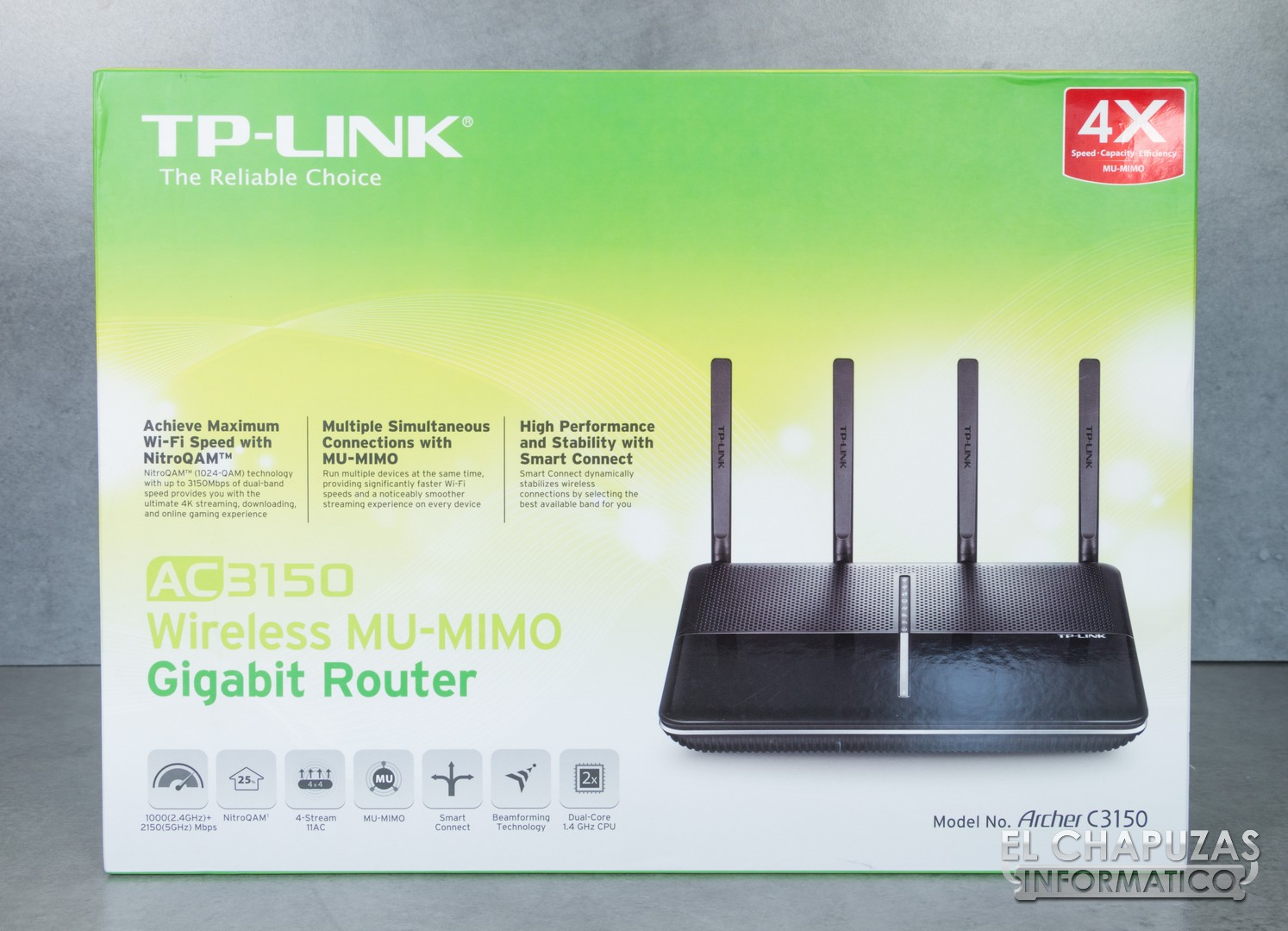 review tp link archer c3150 router mu mimo ac3150 el chapuzas inform tico. Black Bedroom Furniture Sets. Home Design Ideas