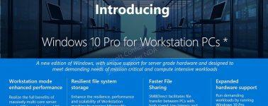 "Windows 10 Pro recibirá una variante ""Windows 10 Pro for Workstations PCs"""
