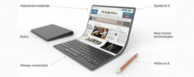 Lenovo muestra su concepto de portátil flexible