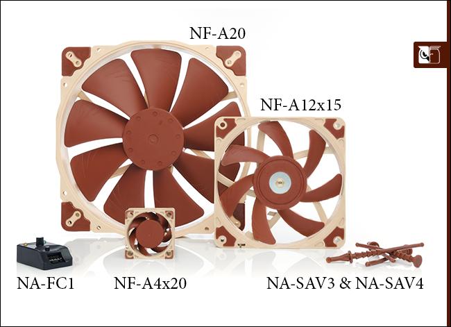 Noctua NF A12x15 NF A4x20 y NF A20 Oficial 1