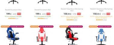 PcComponentes rebaja las sillas gaming, modelos desde 59.96 euros