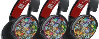 SteelSeries Arctis 5 DOTA 2 Edition: Auriculares con muchos monigotes e iluminación RGB