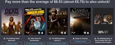 Humble Bundle: 5.70€ por Juego de Tronos, The Walking Dead y mucho más