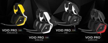 Corsair lanza sus auriculares gaming VOID PRO RGB Wireless, RGB USB y PRO Surround