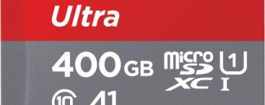 SanDisk marca el camino con su Ultra microSDXC de 400GB de capacidad