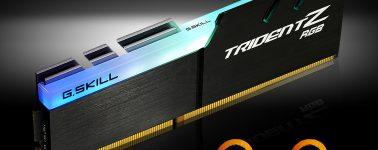 G.Skill lanza sus Trident Z RGB DDR4 optimizadas para AMD Ryzen
