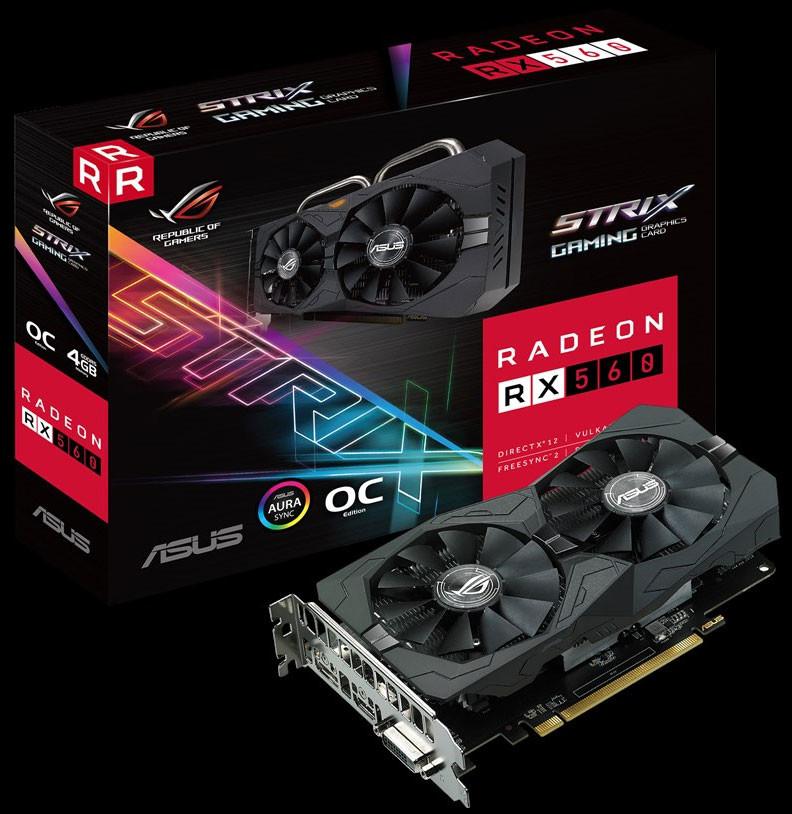 Resultado de imagen para Tarjeta De Video Asus Rog Strix Radeon Rx 560 - O4gb Gaming