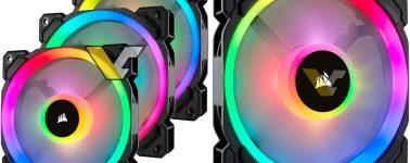 Ventiladores Corsair LL140 RGB y LL120 RBG filtrados