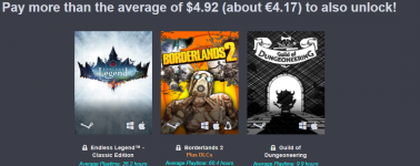 Humble Bundle: Borderlands 1/2 + 4 juegos por 4 euros
