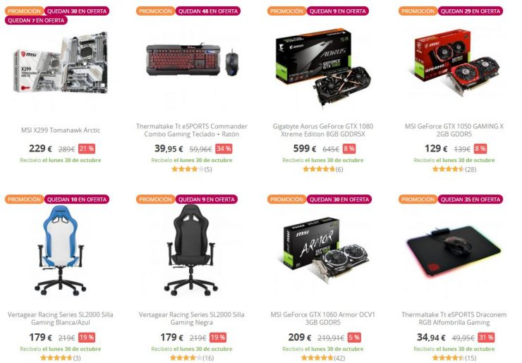 Ofertas Halloween PcComponentes 740x515 0