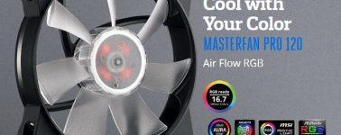 Cooler Master lanza sus ventiladores MasterFan Pro 120 con iluminación RGB