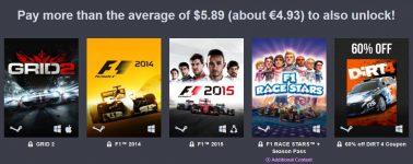 Humble Bundle: Pack de juegos de conducción de Codemaster a bajo precio