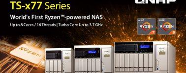 QNAP TS-x77: Los primeros NAS del mundo con CPU AMD Ryzen