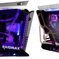 Raidmax x08: Chasis de aluminio con diseño abierto y vidrio templado