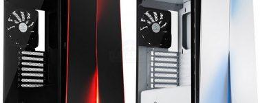 SilverStone Redline RL07: Chasis ATX en color blanco y negro con iluminación LED en el frontal