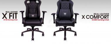Tt eSports lanza sus sillas gaming X FIT y X Comfort con cuero vacuno