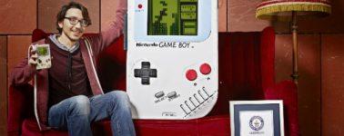 Un estudiante belga construye la Game Boy más grande del mundo