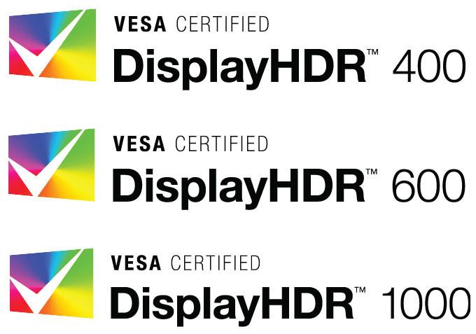 VESA DisplayHDR 400 600 y 1000 0