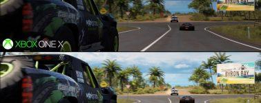 Forza Horizon 3 a resolución 4K en Xbox One X vs PC