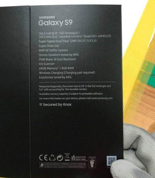 Galaxy S9 caja 520x600 0