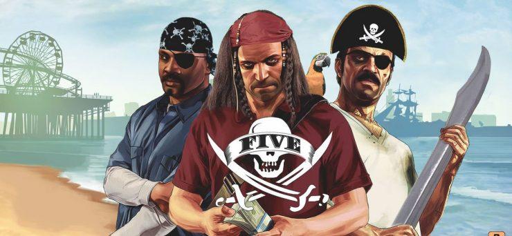 Grand Theft Auto V Pirata 740x342 0