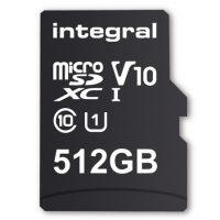 Integral lanza la primera tarjeta microSDXC de 512GB de capacidad