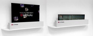 LG Display muestra su televisor OLED enrollable gracias a su flexibilidad y 0,18mm de grosor
