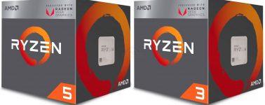AMD lanza sus APU Ryzen 5 2400G y Ryzen 3 2200G, primeros benchmarks