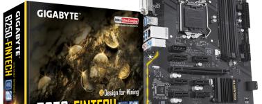 Gigabyte B250-FinTech: Placa base para minado con 12x ranuras PCIe