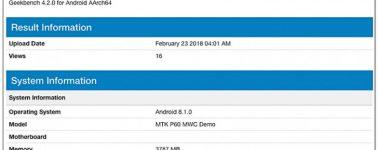 Mediatek anunciará el SoC Helio P60 en el MWC, filtrado el primer benchmark