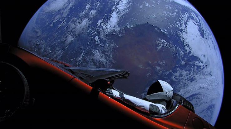 Tesla Roadster Falcon Heavy SpaceX 740x416 0