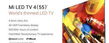 Xiaomi Mi LED TV 4: Televisor 4K HDR de 55 pulgadas en 4.9 mm de grosor