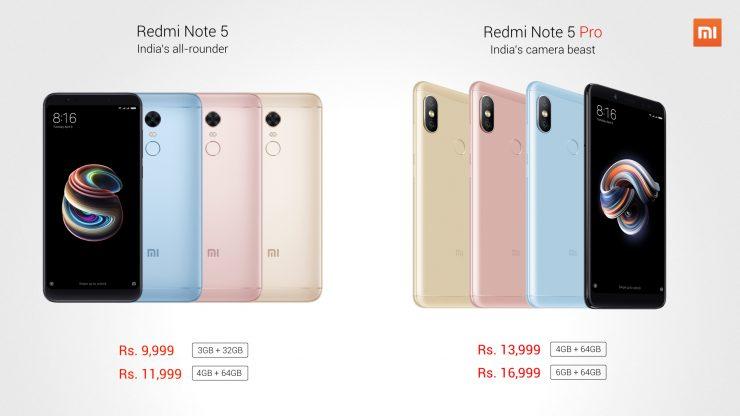 Xiaomi Redmi Note 5 Pro y Redmi Note 5 740x416 0