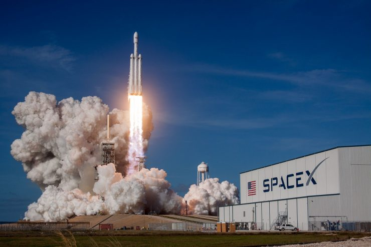 Reloj Atómico NASA SpaceX Falcon Heavy