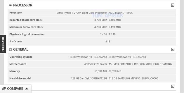 AMD Ryzen 7 2700X Benchmark 3DMark 0