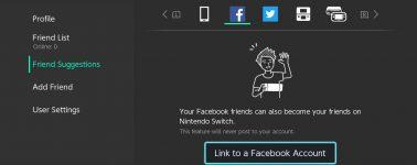 La Nintendo Switch ya permite buscar amigos en Facebook y Twitter