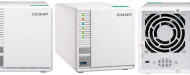 QNAP TS-328: NAS de 3 bahías capaz de crear una RAID 5