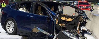 El Tesla Model X accidentado el 23 de Marzo tenía el sistema autónomo Autopilot conectado