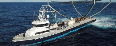 SpaceX intentó capturar el carenado del Falcon 9 con 'Mr. Steven', su barco de recuperación