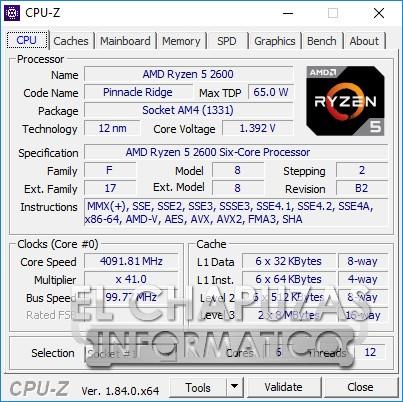 AMD Ryzen 5 2600 13 22