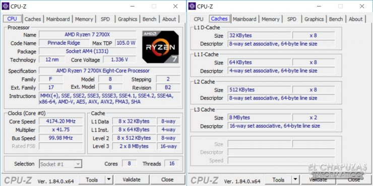 AMD Ryzen 7 2700X X470 CPU Z 740x370 12