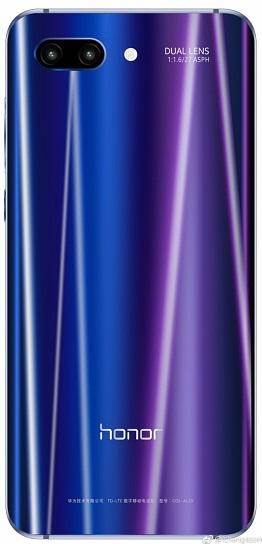 Huawei Honor 10 parte trasera 0